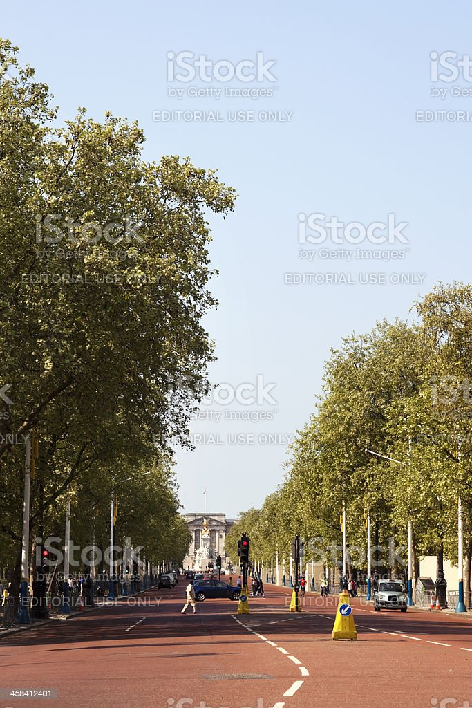 The Mall with Buckingham Palace stock photo