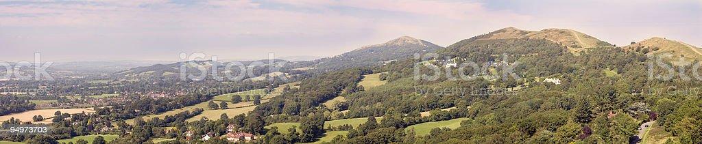 The Malvern Hills in Summer stock photo