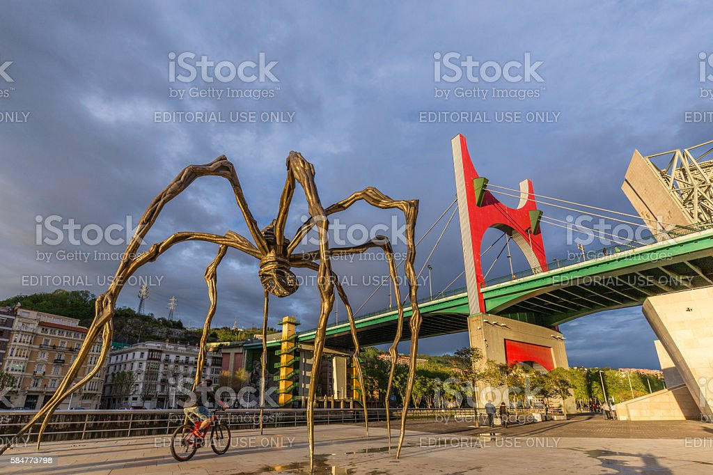 The Maman Sculpture in Bilbao Spain stock photo