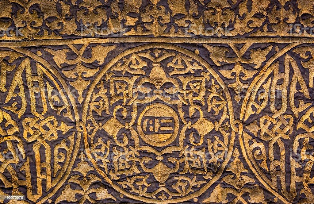 The Mamluk Kaaba Curtain in the Bursa Grand Mosque stock photo