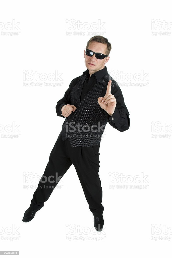 The man in black royalty-free stock photo