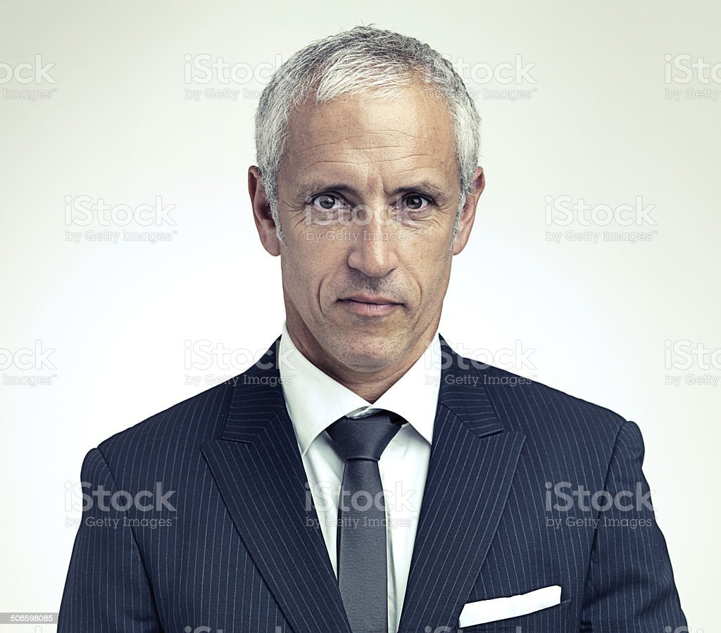 The man in charge stock photo