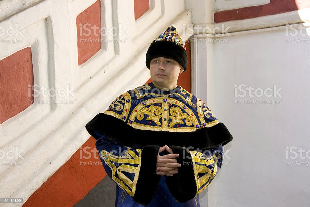 The man in imperial clothes stock photo