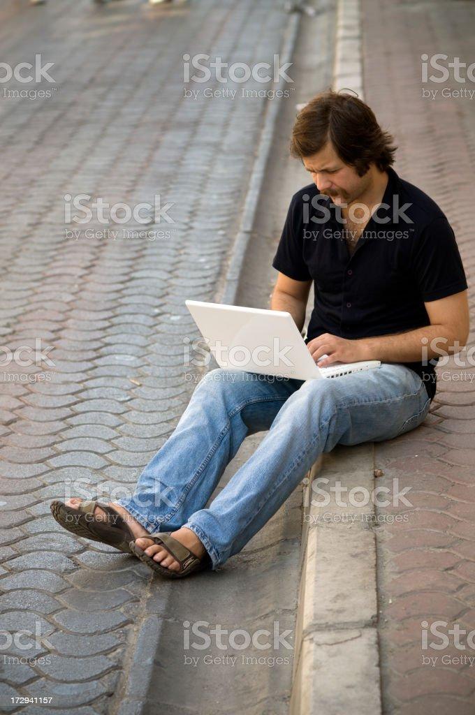 The man on street... royalty-free stock photo