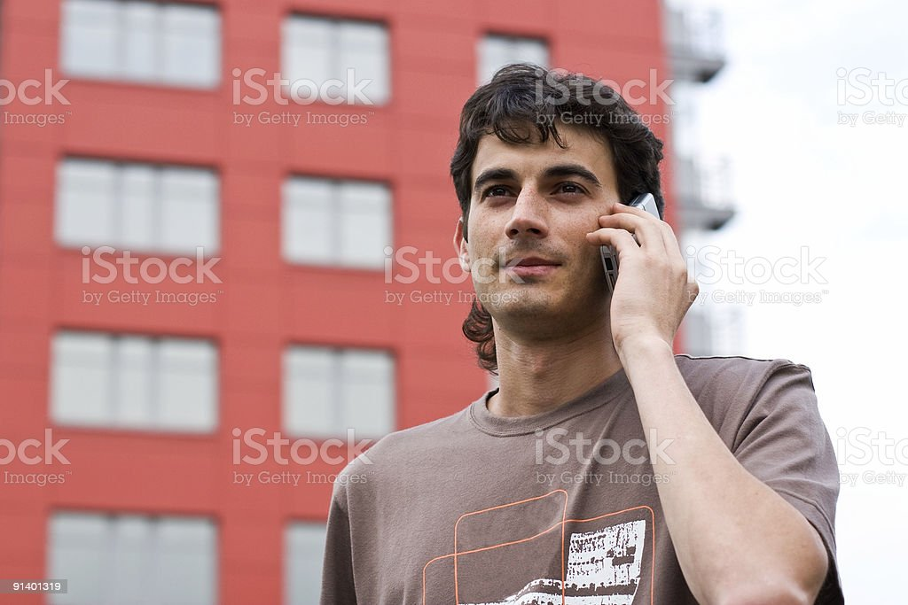 The man with a mobile phone royalty-free stock photo