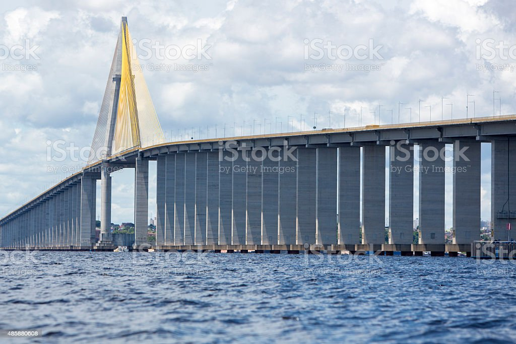 The Manaus Iranduba Bridge over the Amazon River, Brazil stock photo