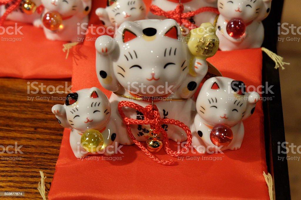 The maneki-neko, the lucky cat1 stock photo