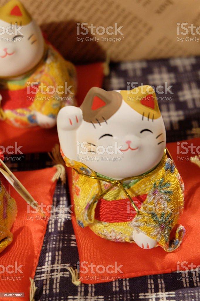 The maneki-neko, the lucky cat3 stock photo