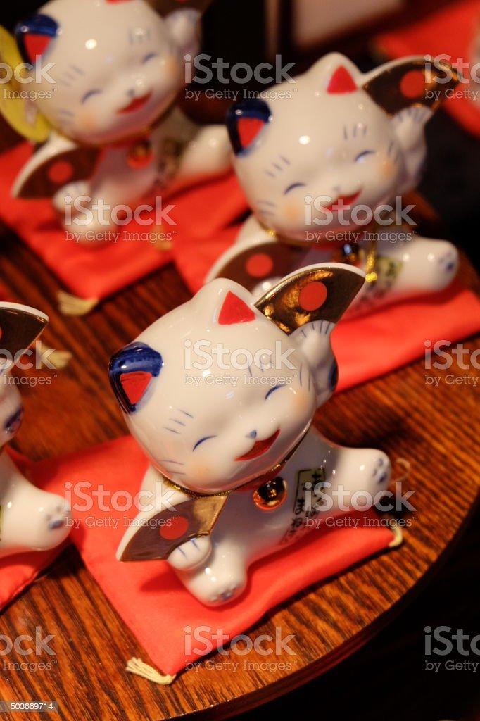 The maneki-neko, the lucky cat4 stock photo