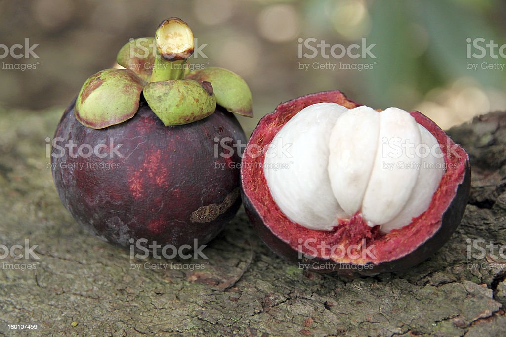 The Mangosteen flesh. royalty-free stock photo