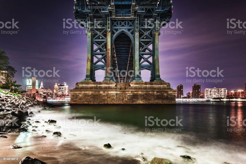 The Manhattan Bridge stock photo
