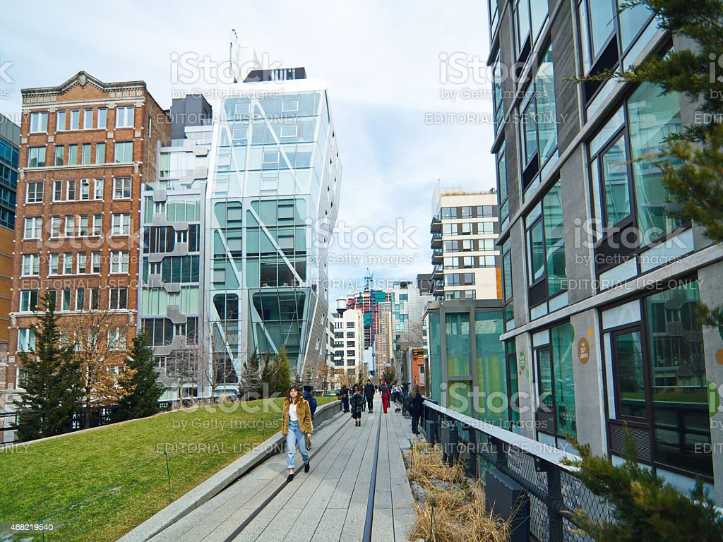 The Manhattan New York High Line park stock photo