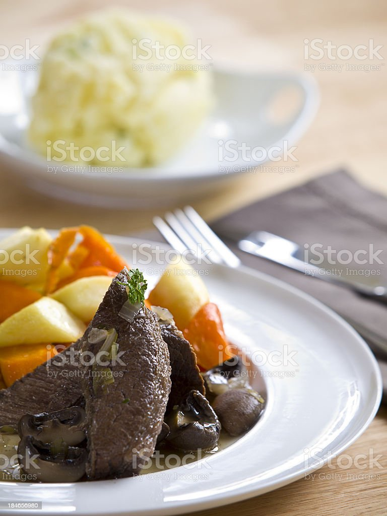 the mans dinner is ready royalty-free stock photo