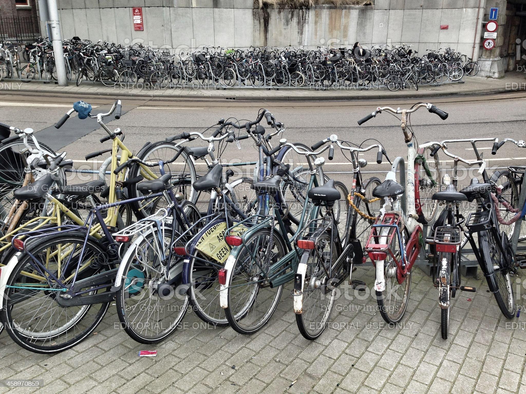 The Many Bikes of Amsterdam royalty-free stock photo