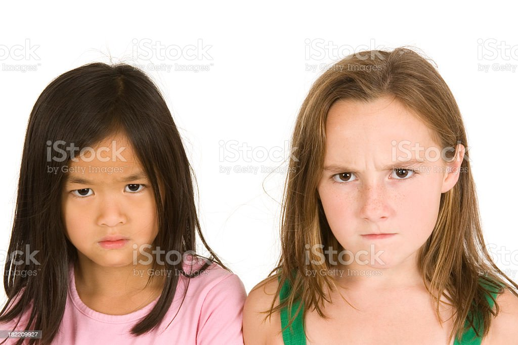 The many faces of a child royalty-free stock photo