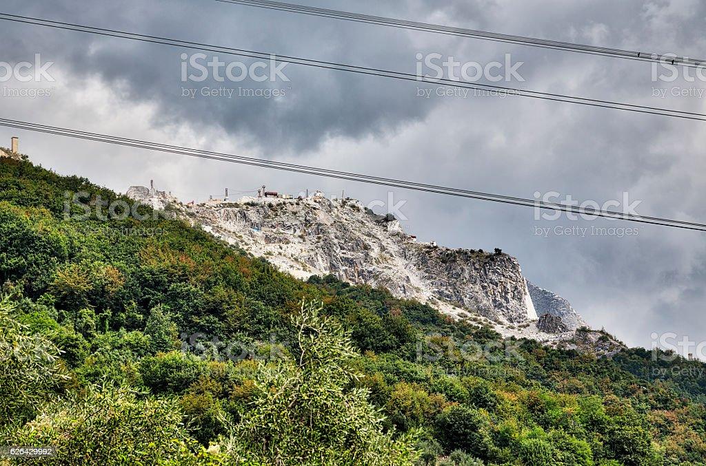 The Marble Quarries - Apuan Alps , Carrara, Tuscany, Italy stock photo