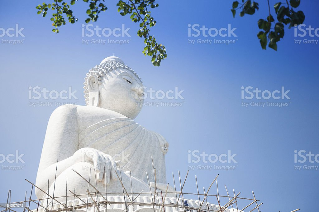 The marble statue of Big Buddha in Phuket royalty-free stock photo