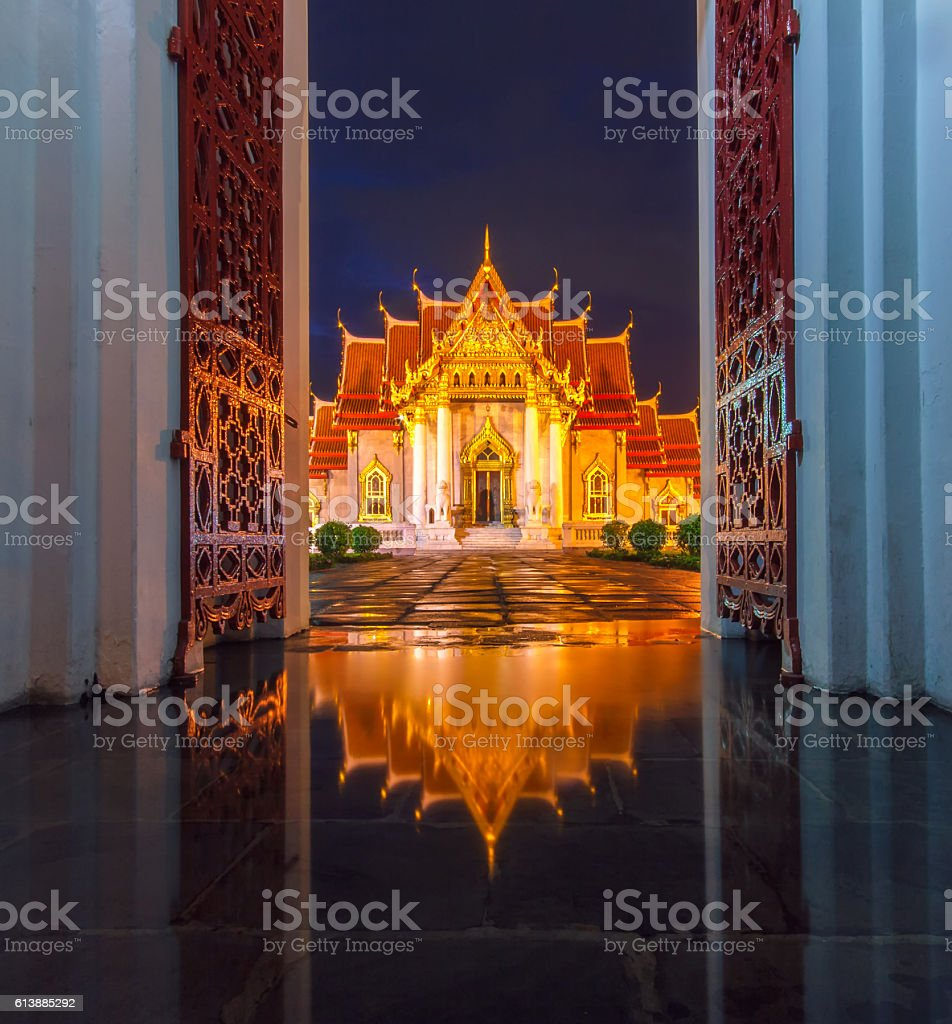 The Marble Temple, Wat Benchamabopit stock photo