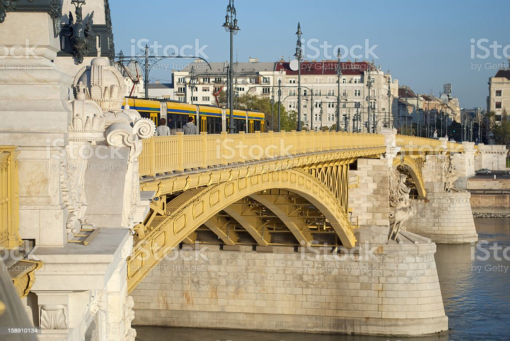 The Margaret Bridge in Budapest (Hungary) stock photo