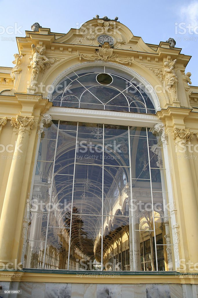 The Marienbad Colonnades stock photo