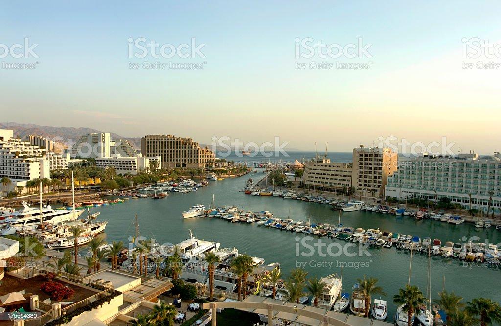 The marina of Eilat Israel stock photo