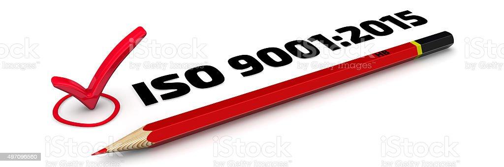 ISO 9001:2015. The Mark stock photo
