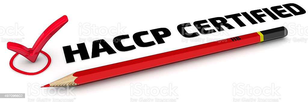 HACCP CERTIFIED. The Mark stock photo
