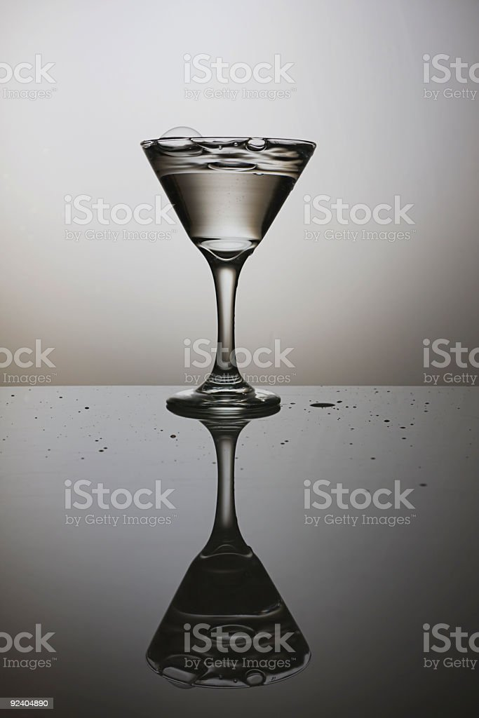 The Martini Glass royalty-free stock photo