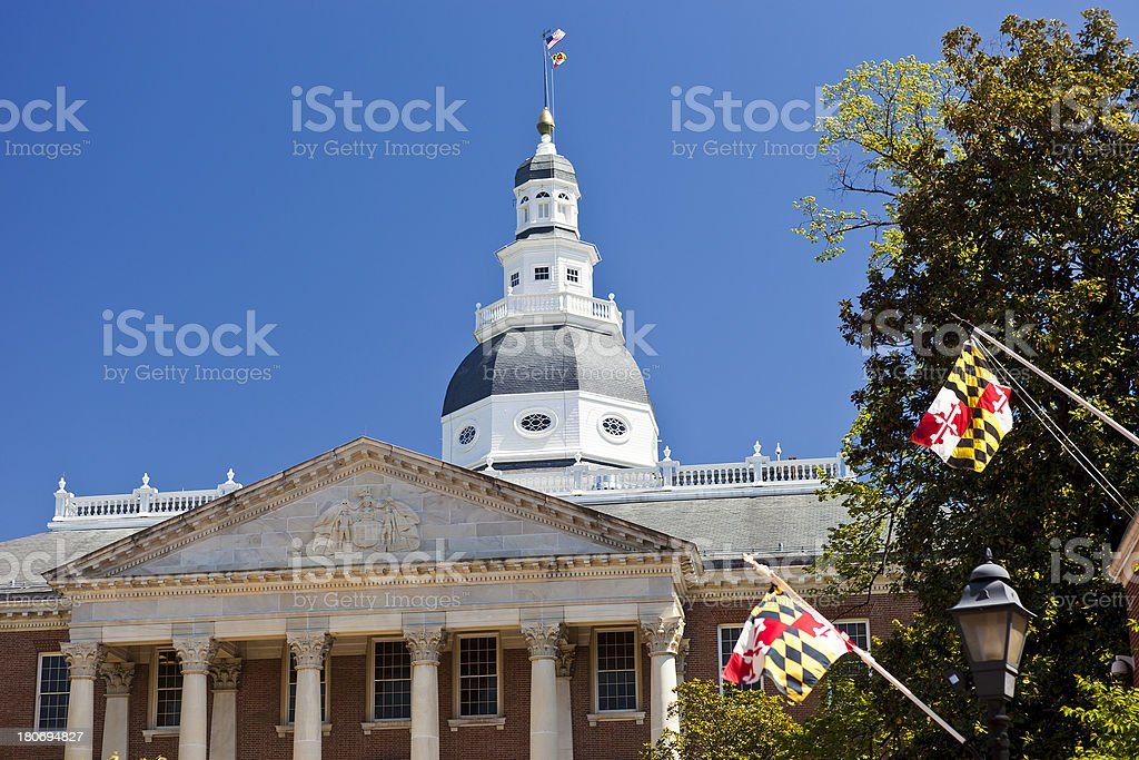The Maryland State House In Annapolis royalty-free stock photo