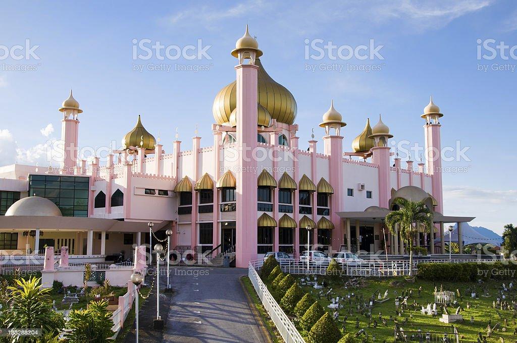 The Masjid Negara mosk in Kuching royalty-free stock photo