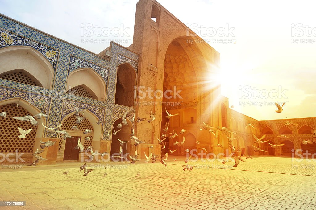 The Masjid-i Jami, Isfahan, Iran stock photo