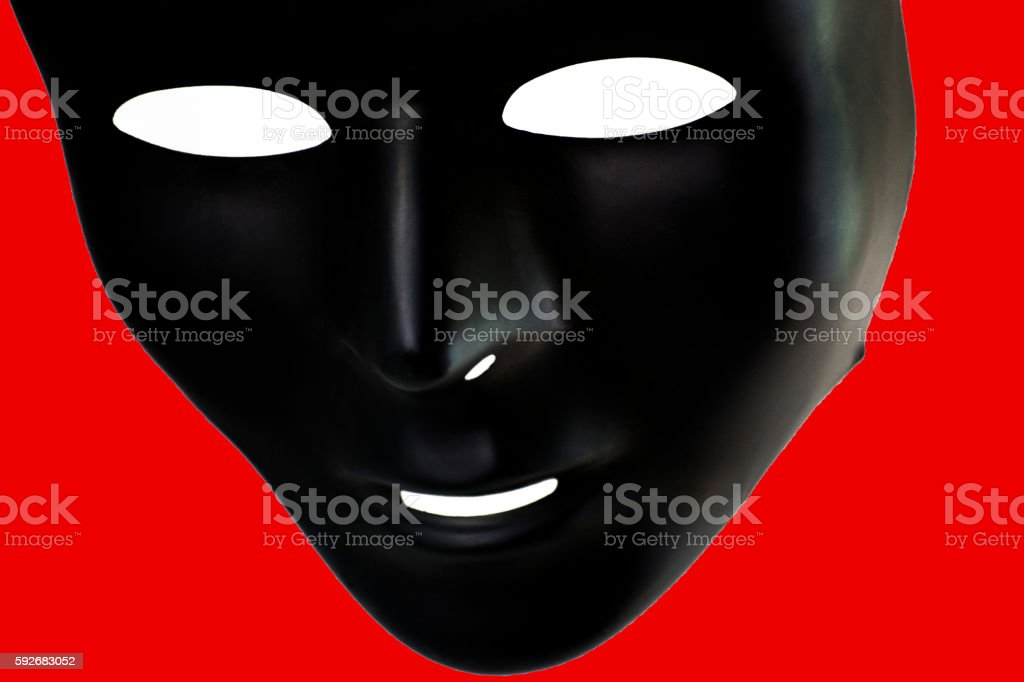 The Mask in Red stock photo