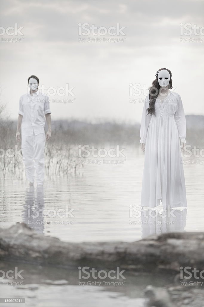 The Masked Players stock photo