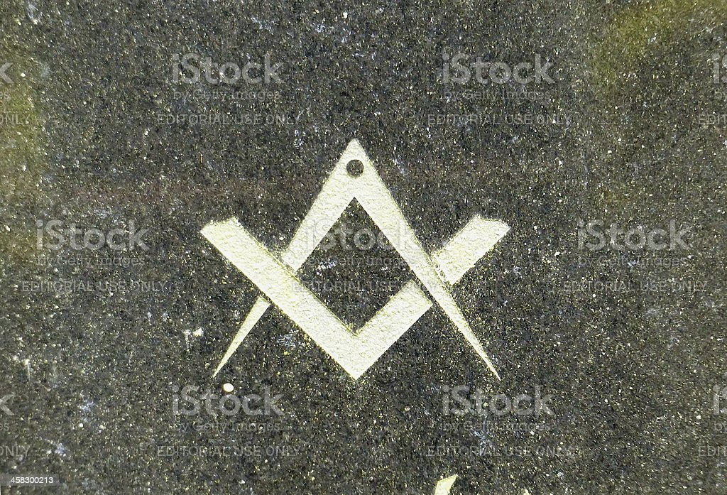 The Masonic Square and Compass stock photo