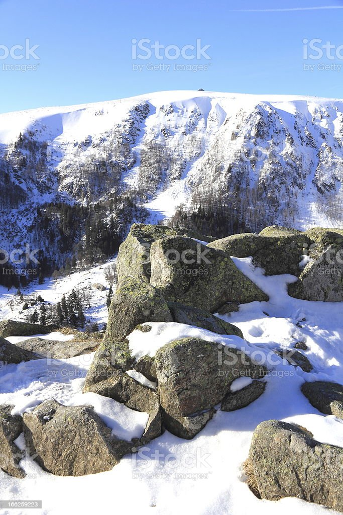 The Massif of Vosges in winter stock photo