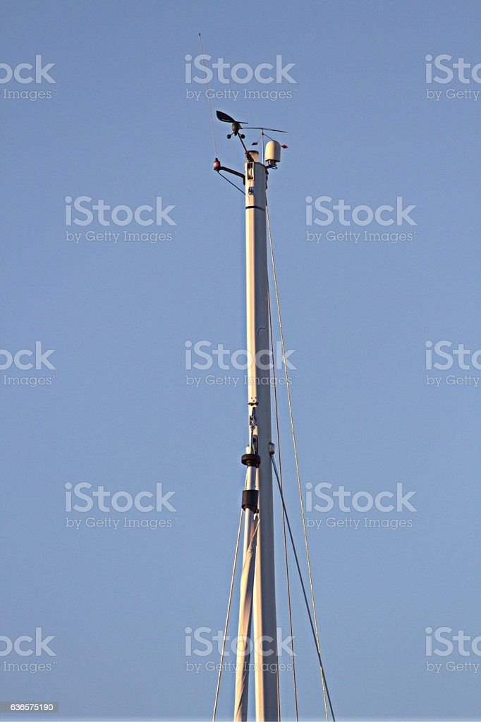 The mast of a sailing vessel stock photo