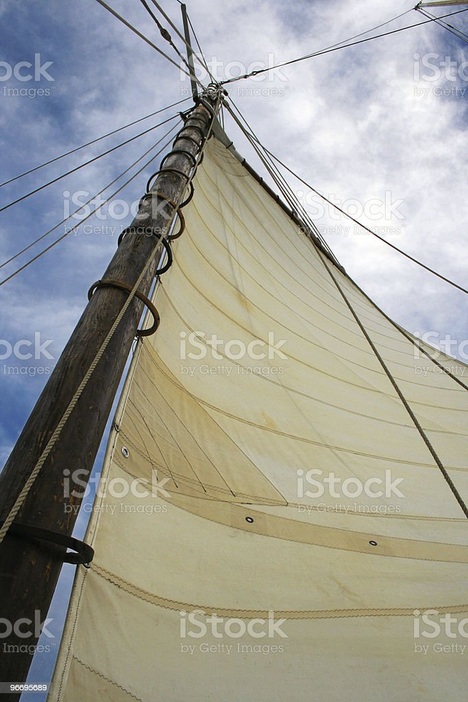 The mast rigging of a sailing schooner in Chicago, Illinois royalty-free stock photo