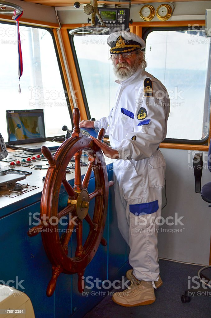The master of the ship stock photo