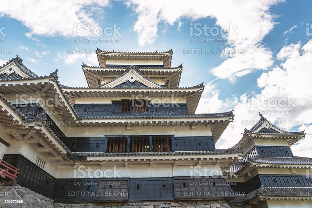 The Matsumoto castle tower of the national treasure stock photo