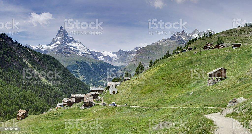 The Matterhorn from Findeln, stock photo