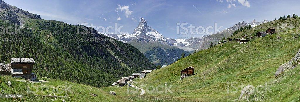 The Matterhorn from Findeln stock photo
