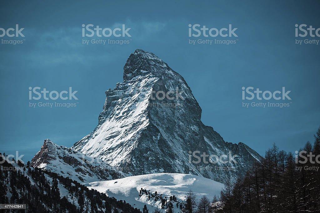The Matterhorn in Switzerland stock photo