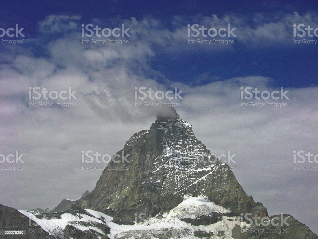 The Matterhorn in Switzerland,close up stock photo