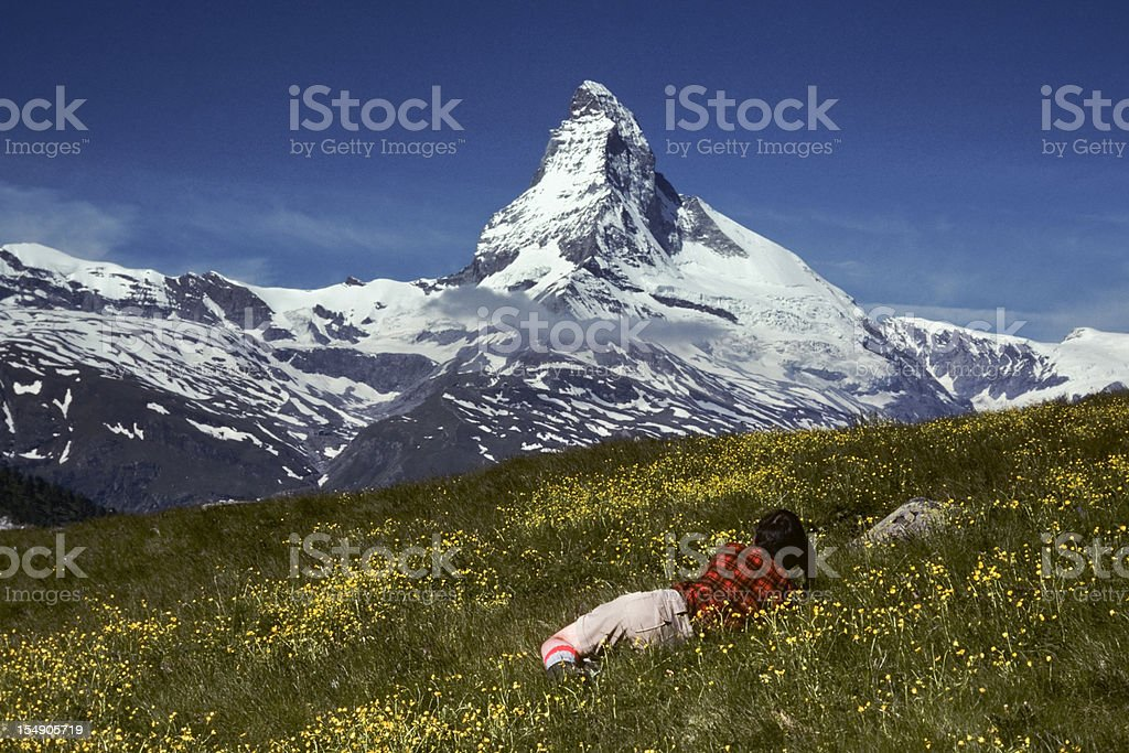 Photographing the Matterhorn royalty-free stock photo