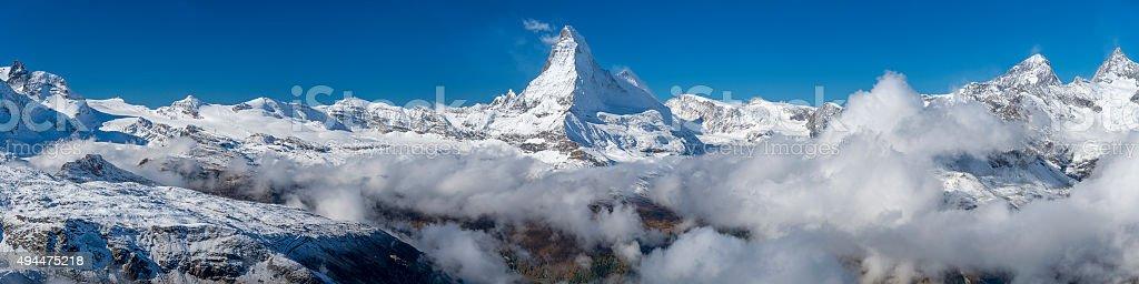 The Matterhorn Panorama stock photo