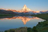 the Matterhorn sunrise on a summer morning