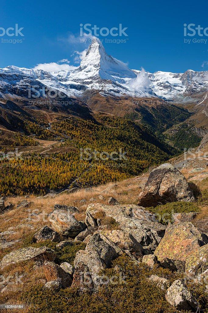 The Matterhorn, Switzerland stock photo
