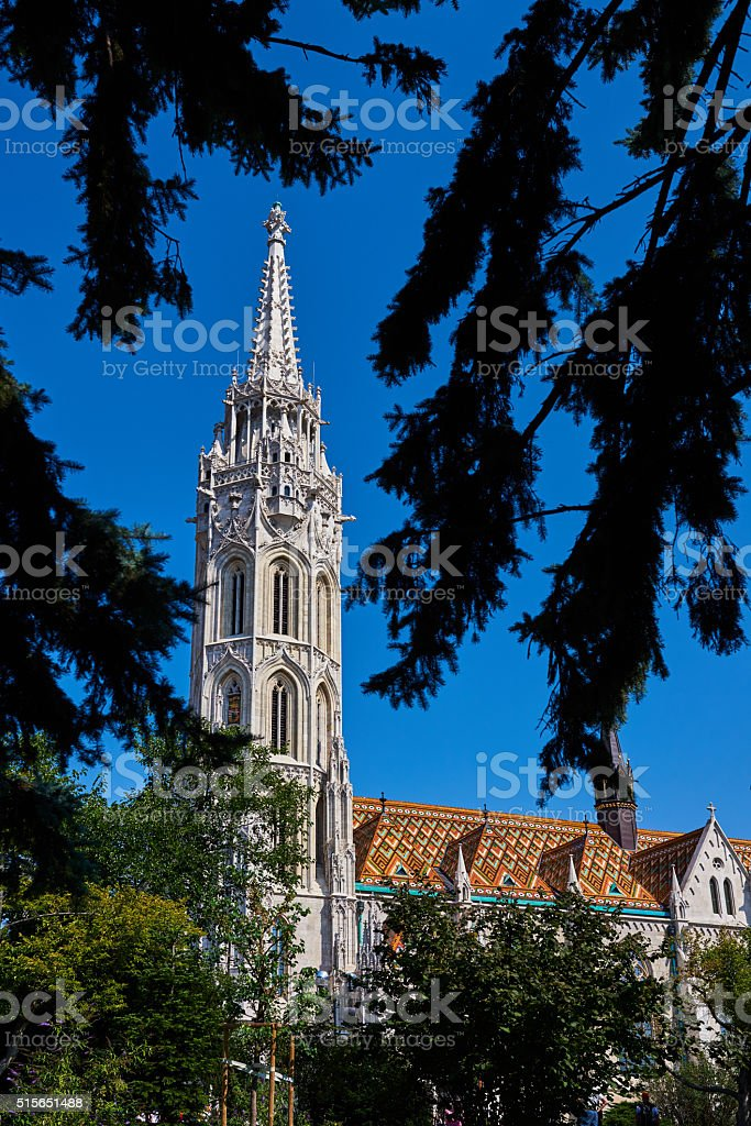 the Matthias church in Budapest stock photo
