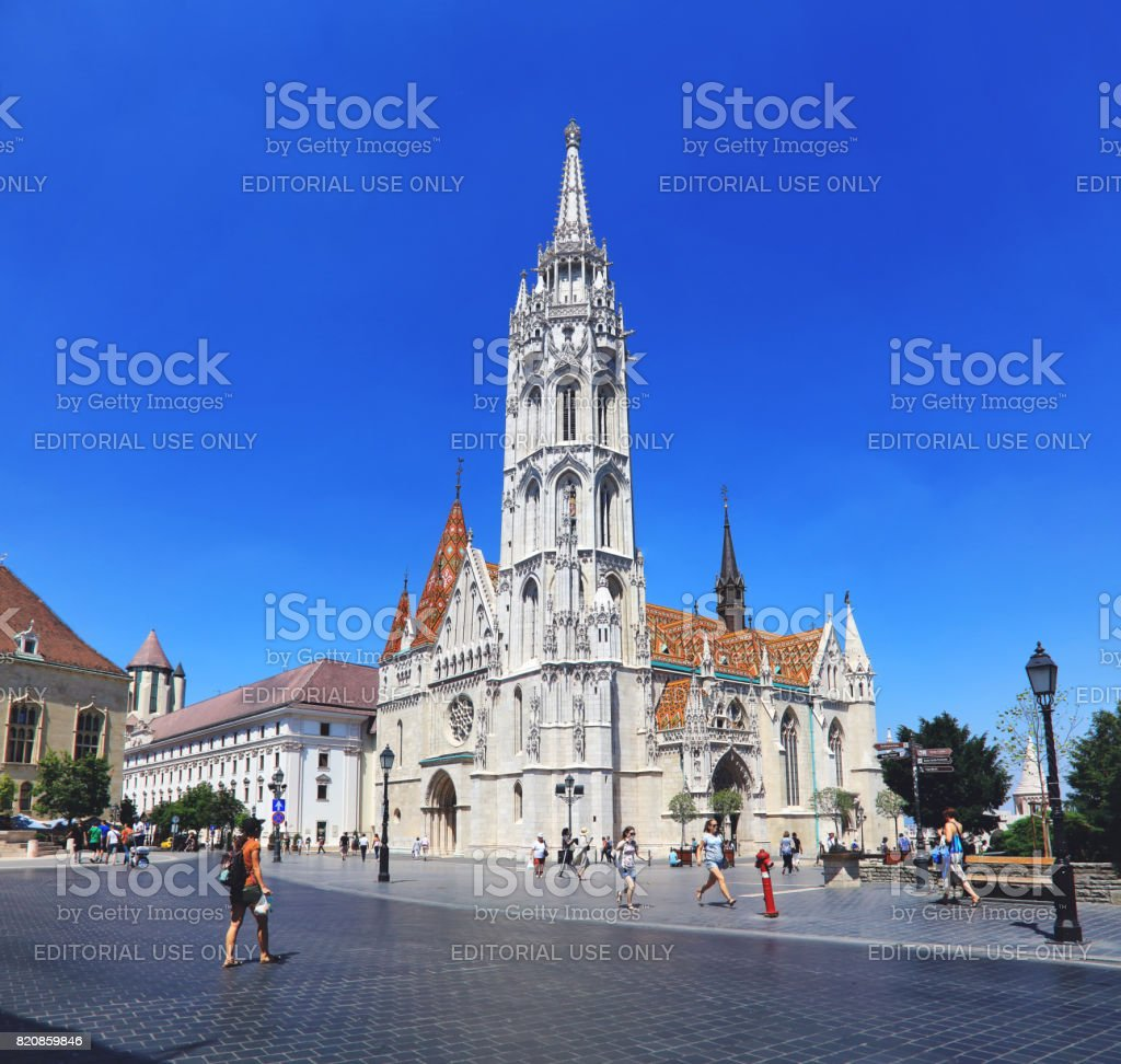 The Matthias Church on Castle Hill, Buda, Budapest, Hungary stock photo