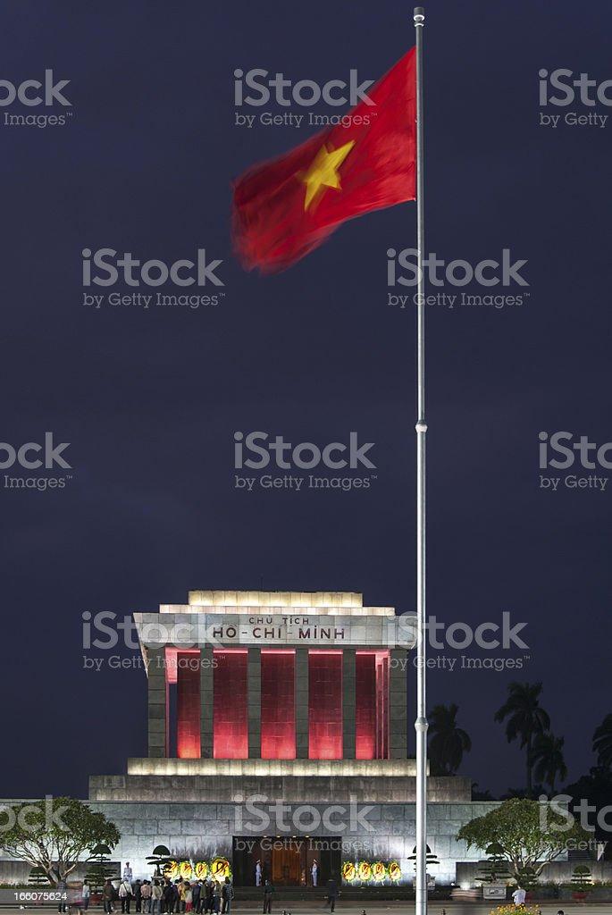 The Mausoleum of Ho Chi Min   Hanoi royalty-free stock photo